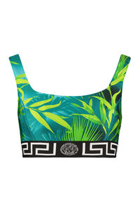 Techno fabric tank-top - Versace Activewear, Crop tops Versace woman