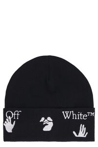 Ribbed wool beanie, Hats Off-White man