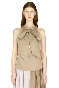 Cotton top with bow, Tanks and Camis Maison Jejia woman