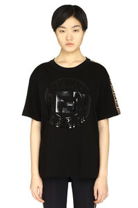 Logo print cotton t-shirt, T-shirts Fendi woman
