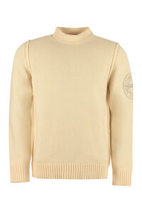 Wool turtleneck sweater, Turtleneck Stone Island man