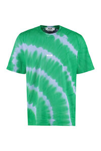 Tie-Dye cotton t-shirt, Short sleeve t-shirts MSGM man