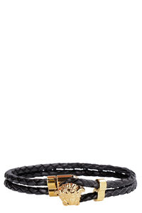 Braided leather bracelet, Jewelry Versace man