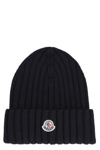 Ribbed wool beanie, Hats Moncler woman