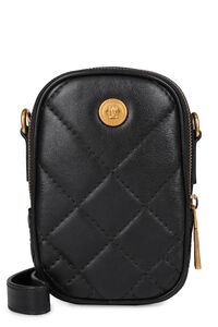 Quilted leather mini-bag, Messenger bags Versace man