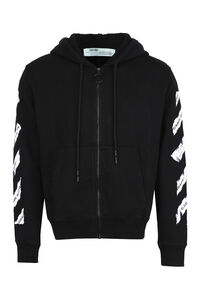 Cotton full zip hoodie, Zip through Off-White man