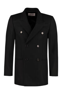Virgin wool double-breasted coat, Peacoats Saint Laurent man