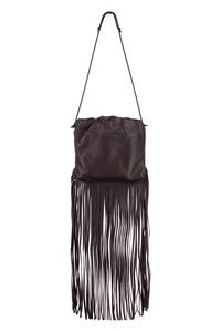 Fringed leather shoulder bag, Shoulderbag Bottega Veneta woman