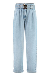 Tapered fit jeans, Wide Leg Jeans Balmain woman