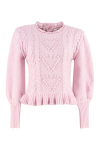 Calantha wool-blend crew-neck sweater, Crew neck sweaters LoveShackFancy woman