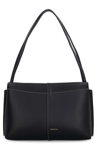 Carly leather shoulder bag, Top handle Wandler woman