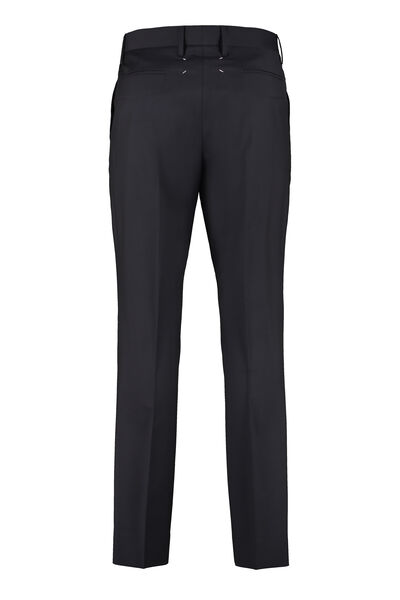 Wool blend tailored trousers