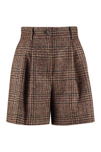 Checked wool shorts, Shorts Dolce & Gabbana woman