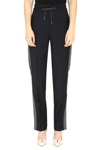Contrasting side stripe trousers, Tapered pants Fabiana Filippi woman