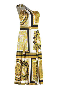 One shoulder dress, Printed dresses Versace woman