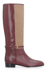 Leather and fabric boots, Knee-high Boots Gucci woman