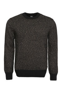 Crew-neck wool-blend sweater, Crew necks sweaters BOSS man