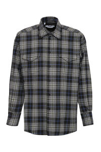 Checked flannel shirt, Checked Shirts MSGM man