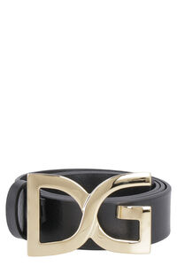 DG buckle leather belt, Belts Dolce & Gabbana man