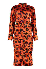 Printed silk dress, Printed dresses GANNI woman