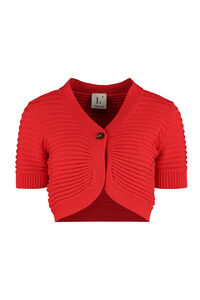 Cropped rib-knit cardigan, Cardigan L'Autre Chose woman