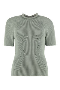Ribbed crew-neck pullover, Crew neck sweaters Fendi woman