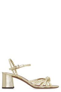 Metallic leather sandals, Mid Heels sandals L'Autre Chose woman