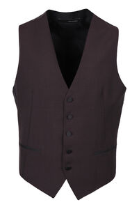 Virgin wool single-breast waistcoat, Single breasted blazers Tagliatore man
