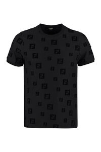 Logo cotton T-shirt, Short sleeve t-shirts Fendi man