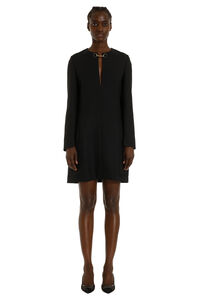 Decorative buttons and chain sheath dress, Mini dresses Stella McCartney woman