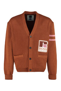 Buttoned cotton cardigan - BOSS x Russell Athletic, Cardigans BOSS man