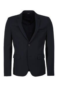 Single-breasted virgin wool jacket, Single breasted blazers Fendi man