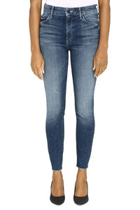 High Waisted Looker Ankle Fray 5-pocket jeans, Skinny Leg Jeans Mother woman
