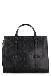 All over GG motif leather tote, Totes Gucci man