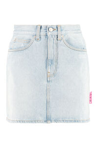 Denim mini skirt, Denim Skirts Off-White woman