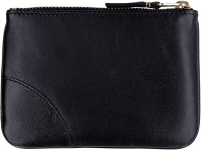 Small leather flat pouch