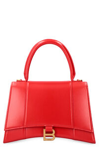 Hourglass leather handbag, Top handle Balenciaga woman