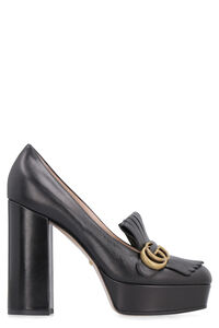 Leather platform pump with fringes, Pumps Gucci woman