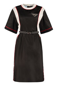 Belted nylon dress, Knee Lenght Dresses Prada woman