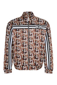 Printed cotton zipped sweatshirt, Zip through GCDS man