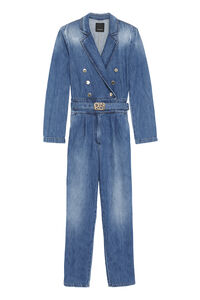 Perry long denim jumpsuit, Full Length jumpsuits Pinko woman