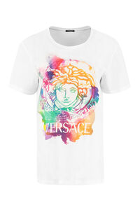 Logo print cotton T-shirt, T-shirts Versace woman