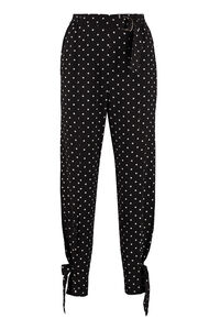 Marinaro polka-dot crêpe trousers, Tapered pants Pinko woman