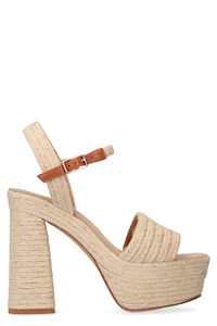 Aria jute wedge espadrilles, High Heels sandals Castaner woman