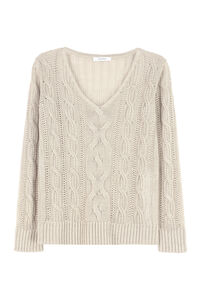 Peplo linen sweater, V neck sweaters Max Mara woman