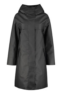 Technical fabric parka with internal removable down jacket, Raincoats And Windbreaker add woman