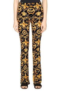 Knitted flared trousers, Flared pants Versace woman