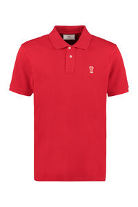 Cotton-piqué polo shirt, Short sleeve polo shirts AMI man