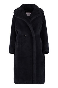 Wool blend double-breasted coat, Faux Fur and Shearling Max Mara woman