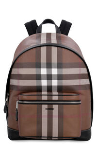 Checked e-canvas backpack, Backpack Burberry man